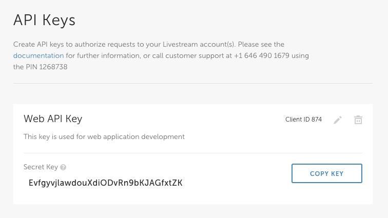 Livestream API | Documentation